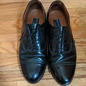 Men's Black Leather Oxfords